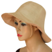 chapeau beige en fibre de lotus et soie naturelle, doublé de coton, mode éthique
