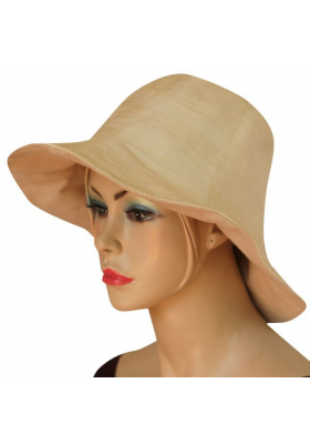 lotus and silk beige hat, lined with cotton, ethical fashion