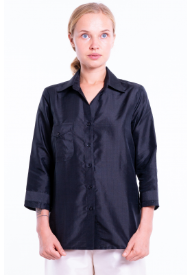 Ambre black silk shirt