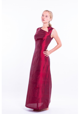 Inès silk evening dress