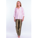 soft pink natural silk shirt, three-quarter length sleeve, chest pocket, middle pleat at the back, fair-trade certified