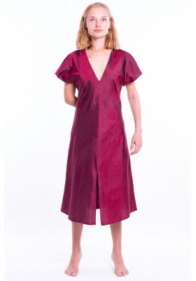 Silk dress Carole red