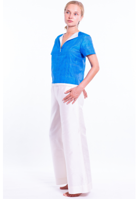 Amelia pacific blue silk top