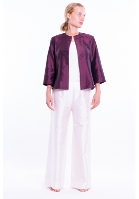 Candice plum silk jacket