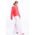 chiffon silk blouse, V neckline, lined with silk, fairtrade certified