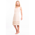 dress in lotus fiber, mid length, natural beige, lined in pure cotton