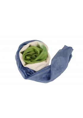 Silk Chiffon Scarf blue/green