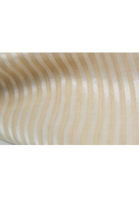 scarf with stripes in lotus fiber and natural silk, beige and white, fair-trade certified