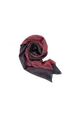 grey and pink scarf in natural silk, slow fashion
