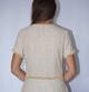 longue robe en fibre de lotus et coton avec franges, dos