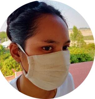 Face mask Navy ( set of 25 masks)- Adult size